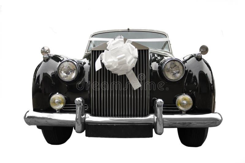 汽车大型高级轿车老婚礼 免版税库存照片