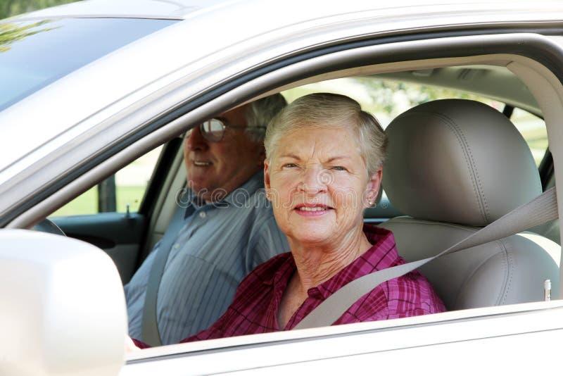 汽车夫妇前辈 库存照片