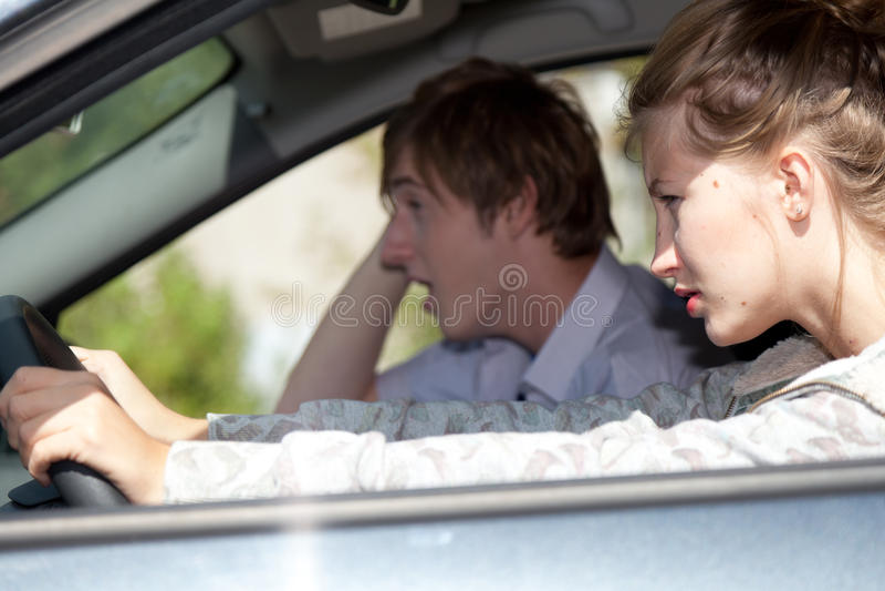 汽车夫妇 库存照片