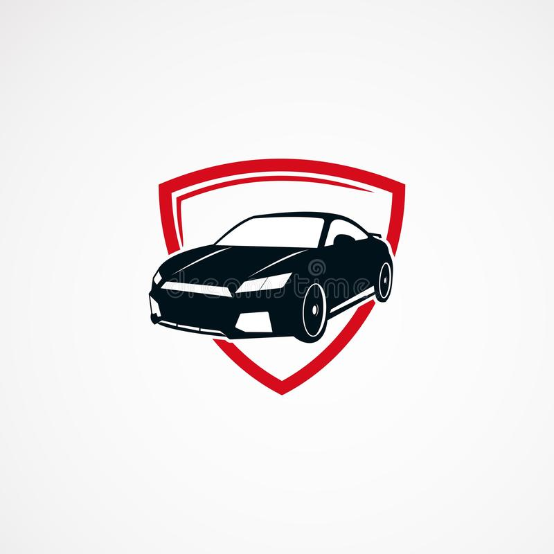 汽车安全商标设计观念、象、元素和模板事务的 向量例证