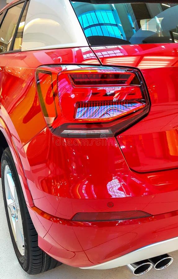 汽车尾灯或尾灯是一些汽车 免版税库存图片