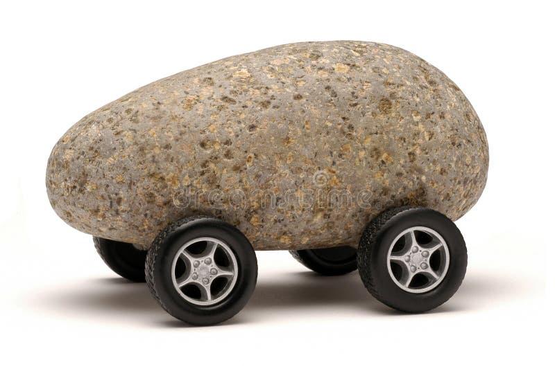 汽车岩石技术轮子 库存照片
