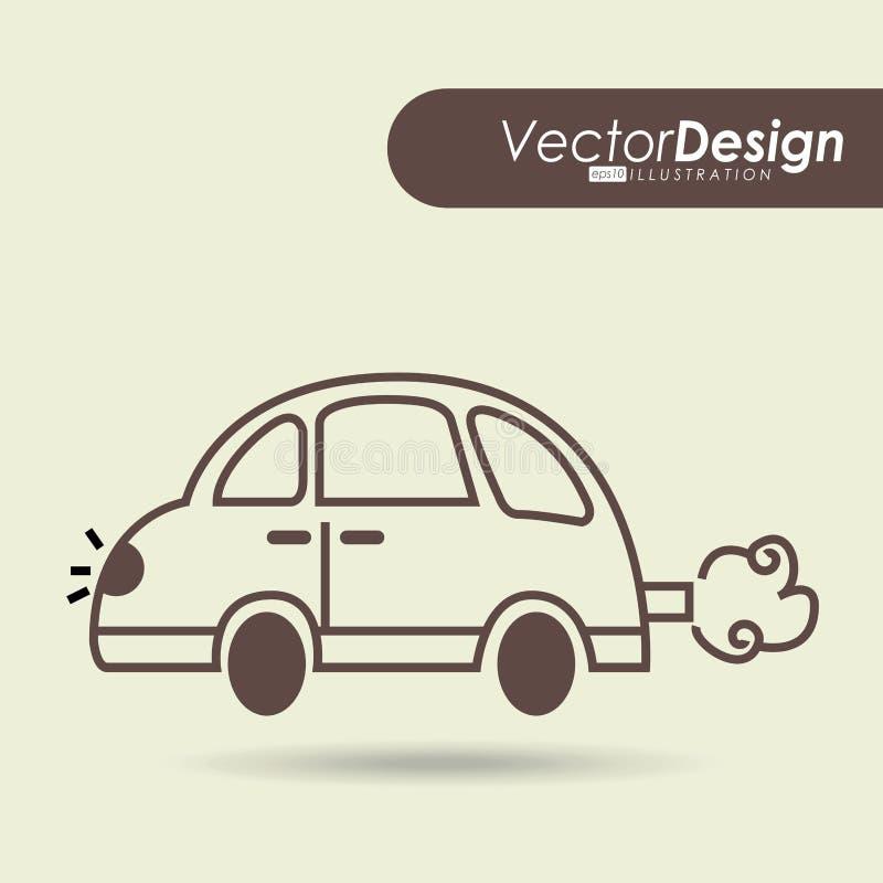 汽车得出的设计 库存例证