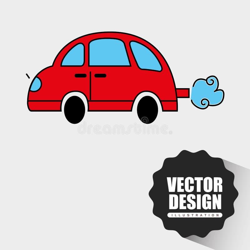 汽车得出的设计 皇族释放例证