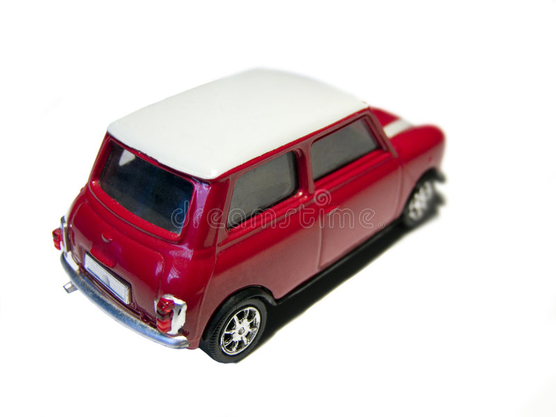 汽车微型后方红色玩具 库存照片