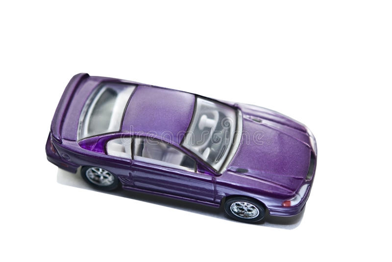 汽车微型野马紫色玩具 库存照片