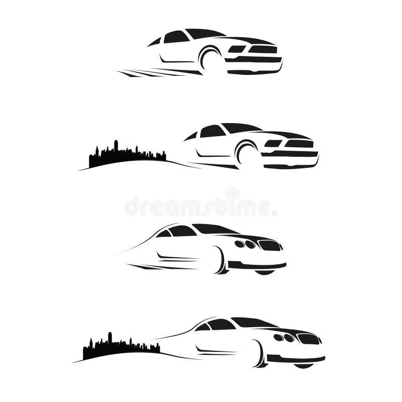 汽车徽标 库存例证