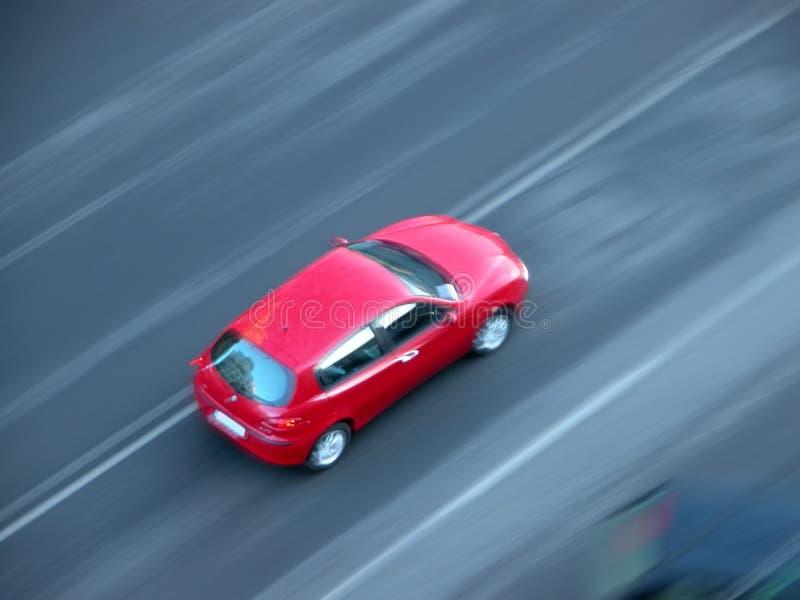 汽车快速加速 免版税库存照片