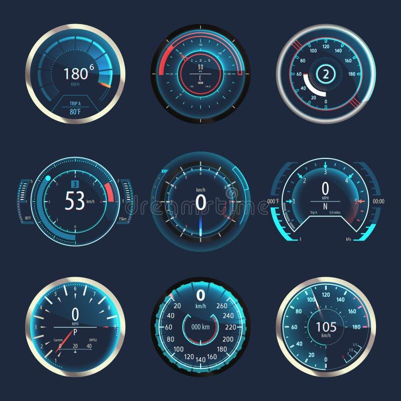 汽车或汽车车速表或者测路器 皇族释放例证
