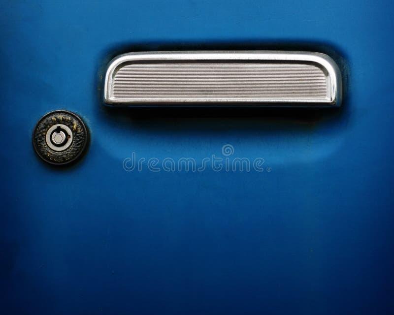 汽车把柄匙孔 库存图片