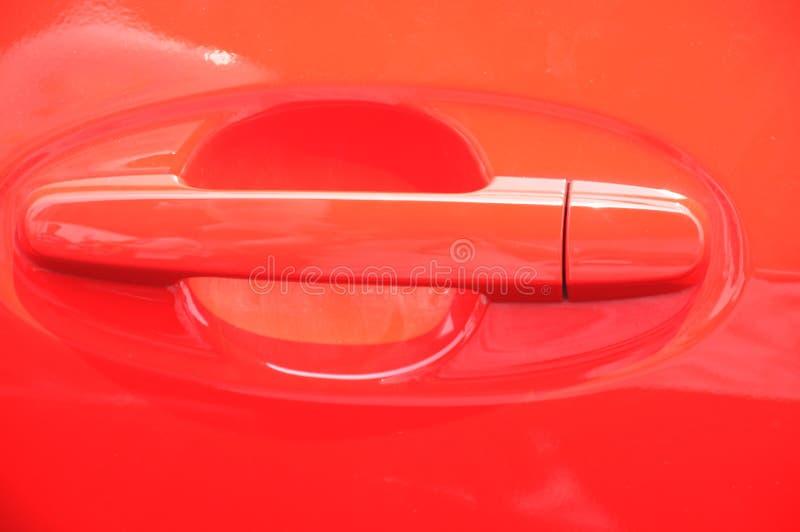 汽车把柄红色 图库摄影