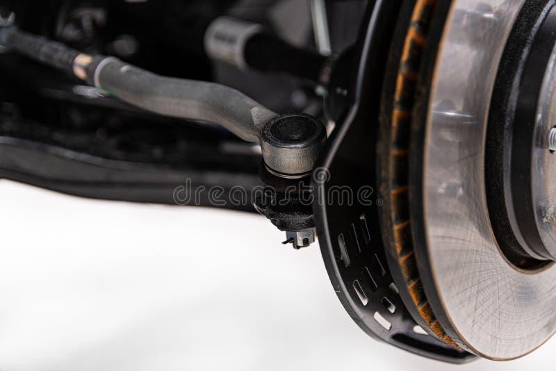 汽车指点轴和刹车的圆盘 免版税库存照片