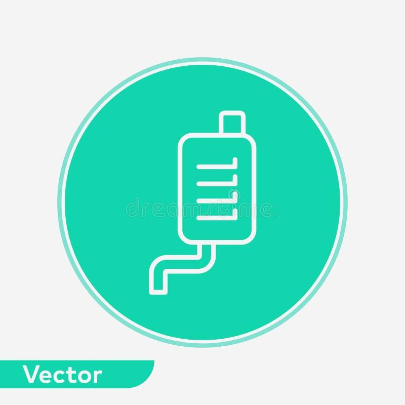 汽车排气管传染媒介象标志标志 库存例证