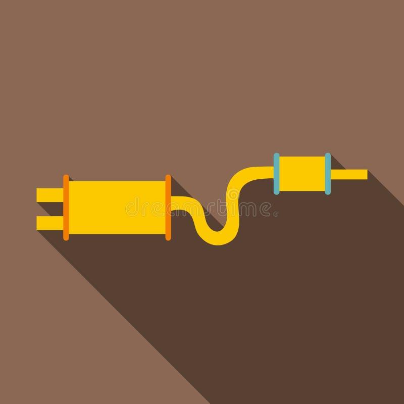 汽车排气管围巾象,平的样式 向量例证