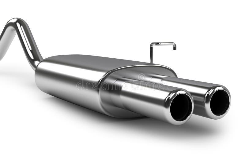 汽车排气管子 向量例证