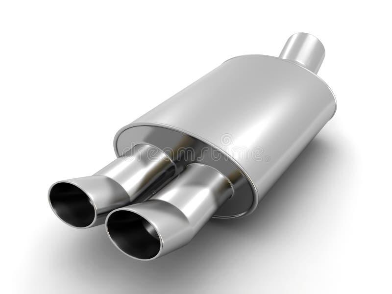 汽车排气管 向量例证