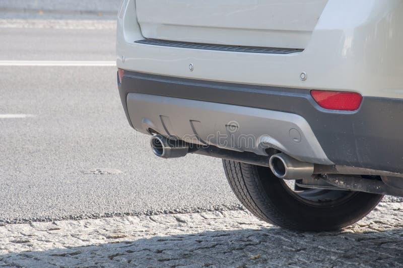 汽车排气管 免版税库存图片