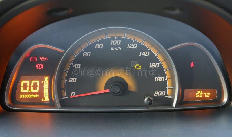 汽车控制台控制板电子仪器航海 免版税库存图片