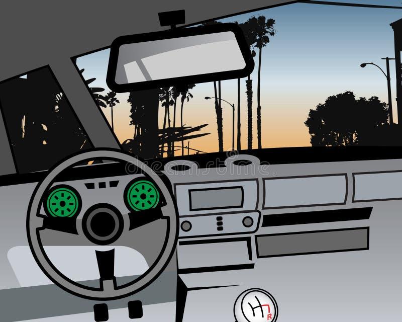 汽车控制板内部向量 向量例证