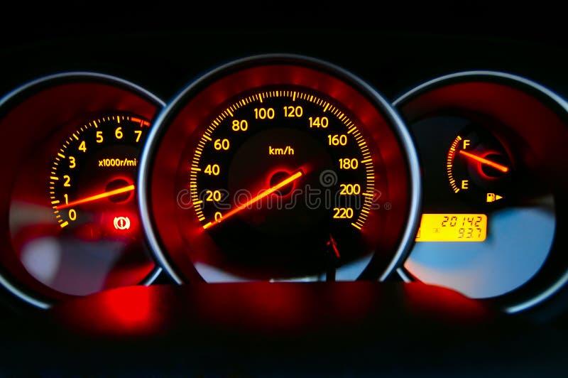 汽车控制板 免版税库存照片