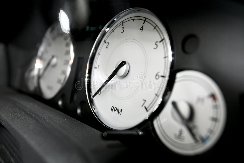汽车控制板 免版税库存图片