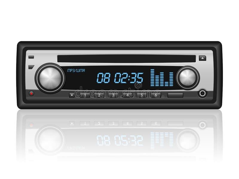 汽车收音机 向量例证