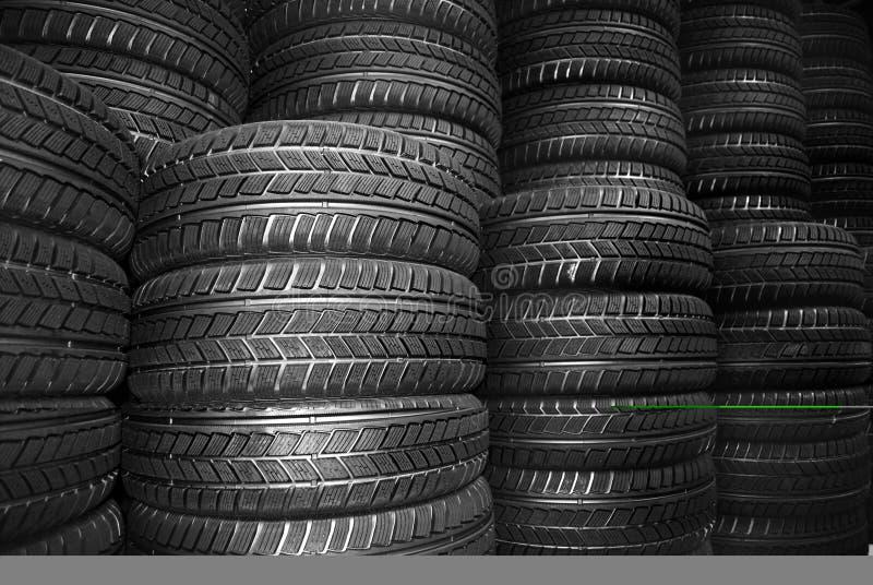 汽车新的轮胎 免版税图库摄影