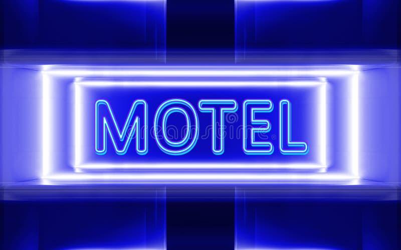 汽车旅馆的霓虹灯广告 皇族释放例证