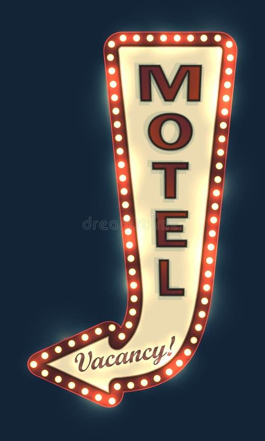 汽车旅馆路标 向量例证