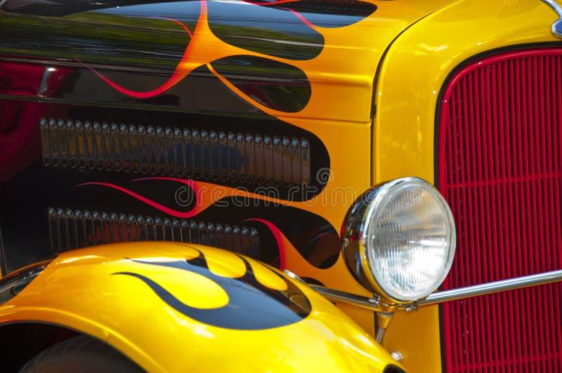 汽车旧车改装的高速马力汽车 免版税库存照片