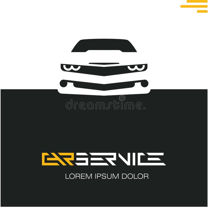 汽车服务海报设计模板,跑车 向量例证