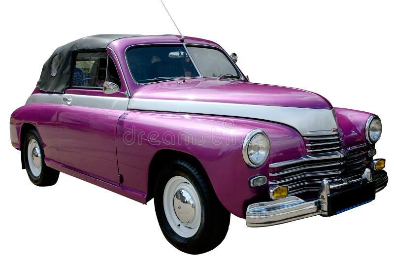 汽车查出的紫色减速火箭 免版税库存照片