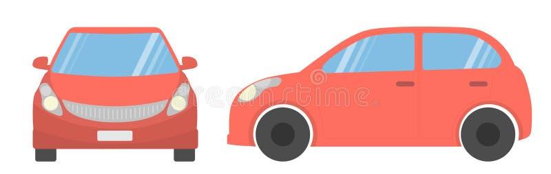 汽车查出的红色 皇族释放例证