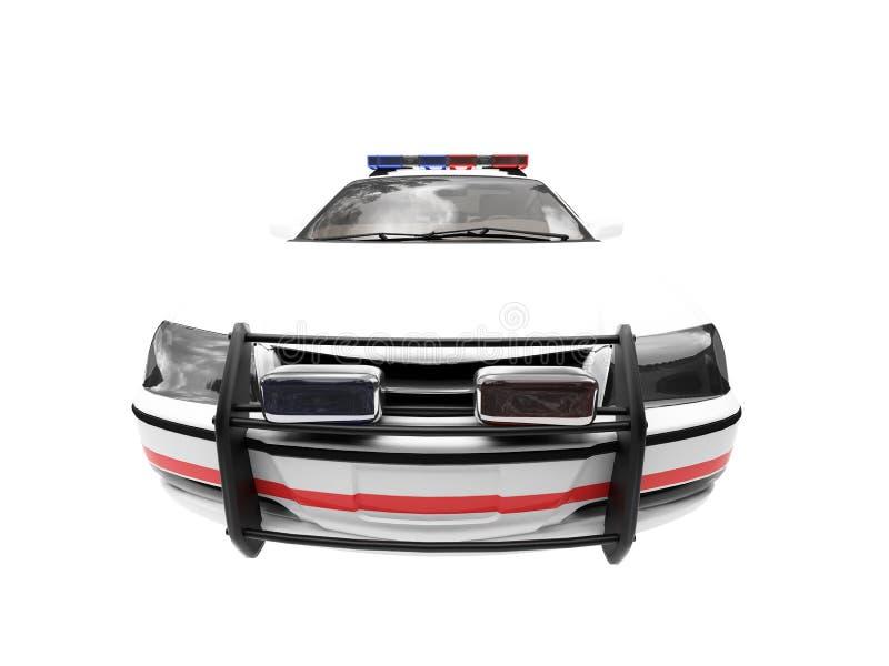 汽车查出的警察白色 向量例证