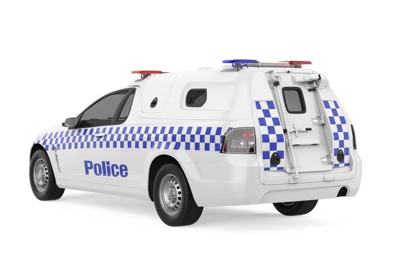 汽车查出的警察 库存例证