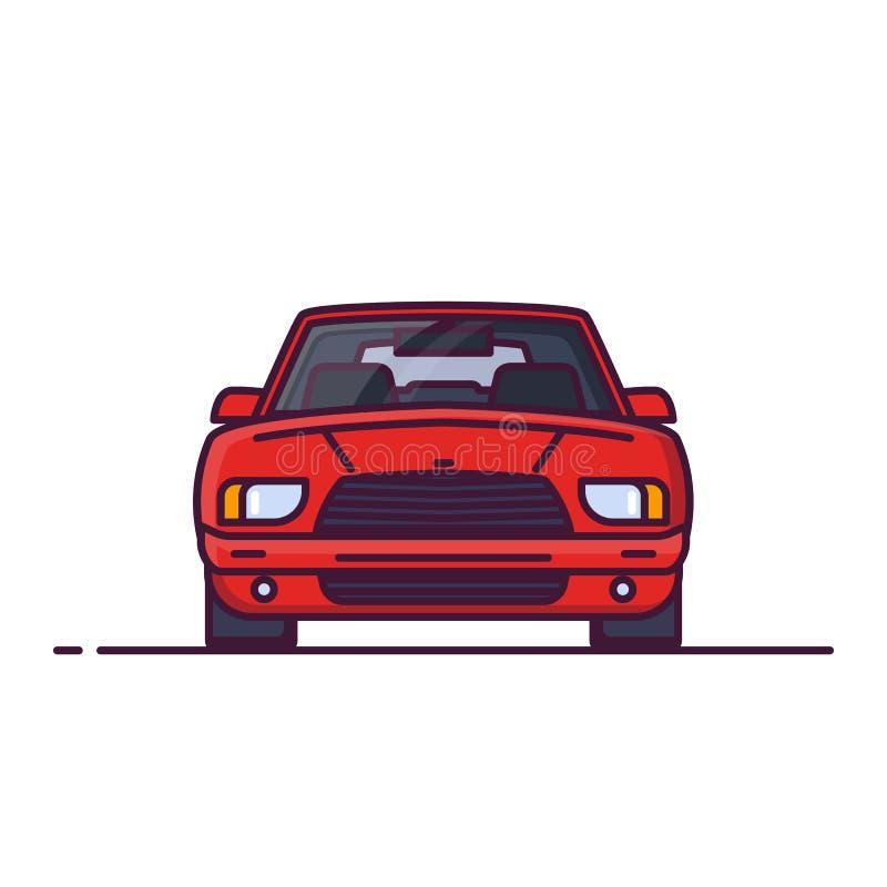 汽车正面图 库存例证