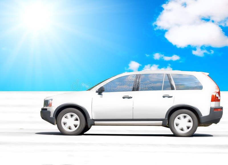 汽车沙漠驱动 免版税库存图片