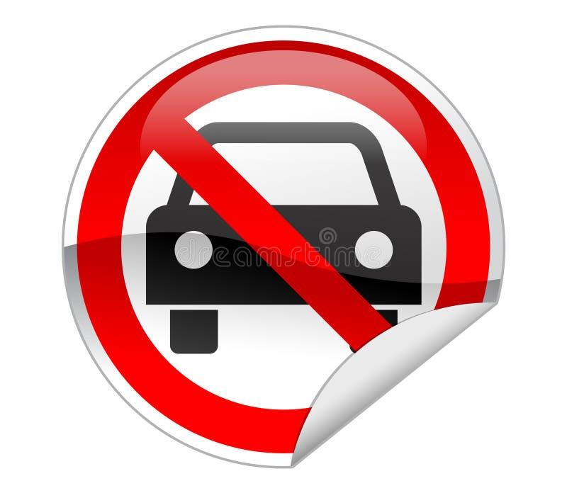 汽车没有符号 向量例证