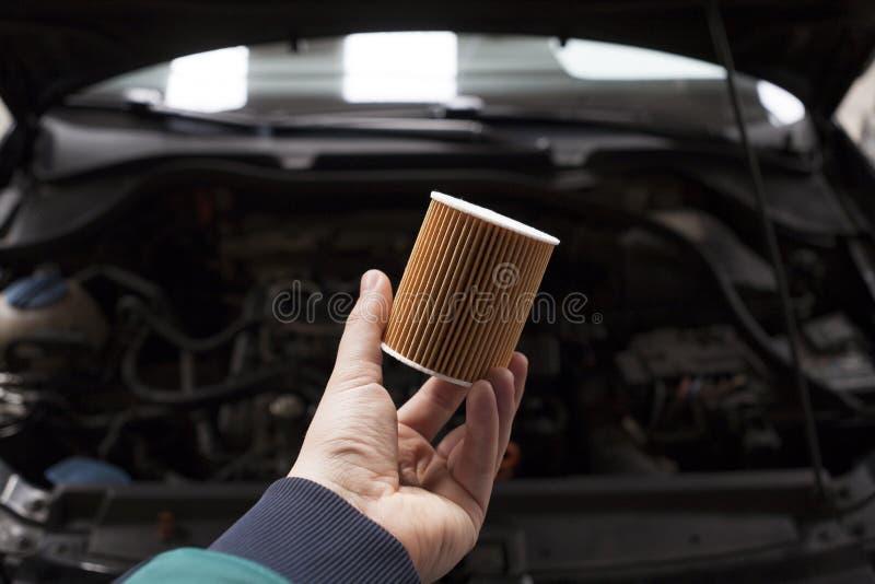 汽车油滤清器 免版税库存照片