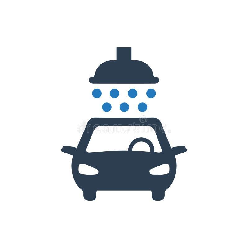 汽车洗涤的象 向量例证