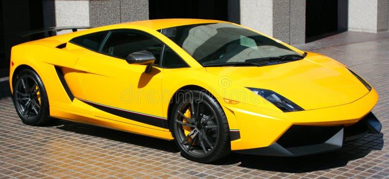 汽车消耗大的黄色 图库摄影