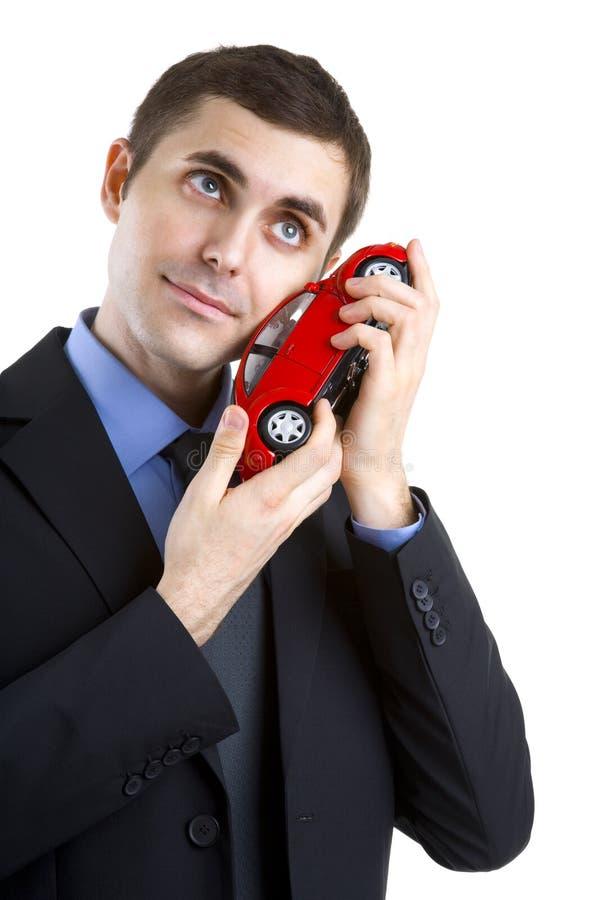 汽车爱恋的人 库存图片