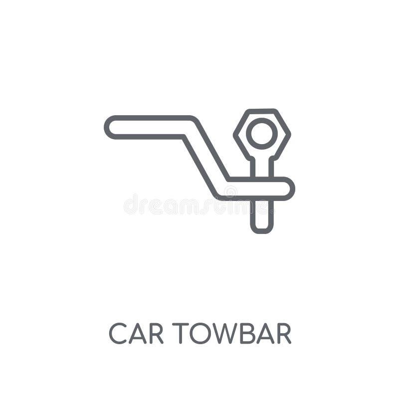 汽车牵引杆线性象 现代概述汽车牵引杆商标概念o 库存例证