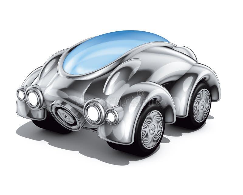 汽车现代通信工具 库存例证