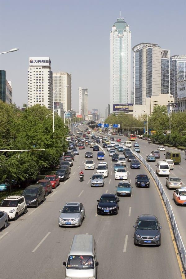 汽车瓷街道武汉 库存图片
