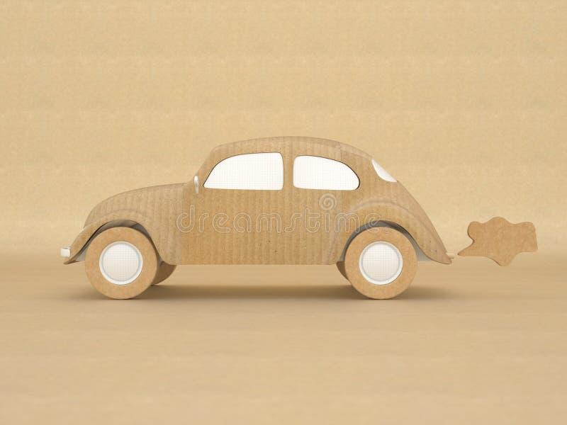 汽车生态学做的设计pa被回收的葡萄酒 向量例证