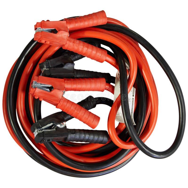 汽车电池充电器电缆夹 库存图片