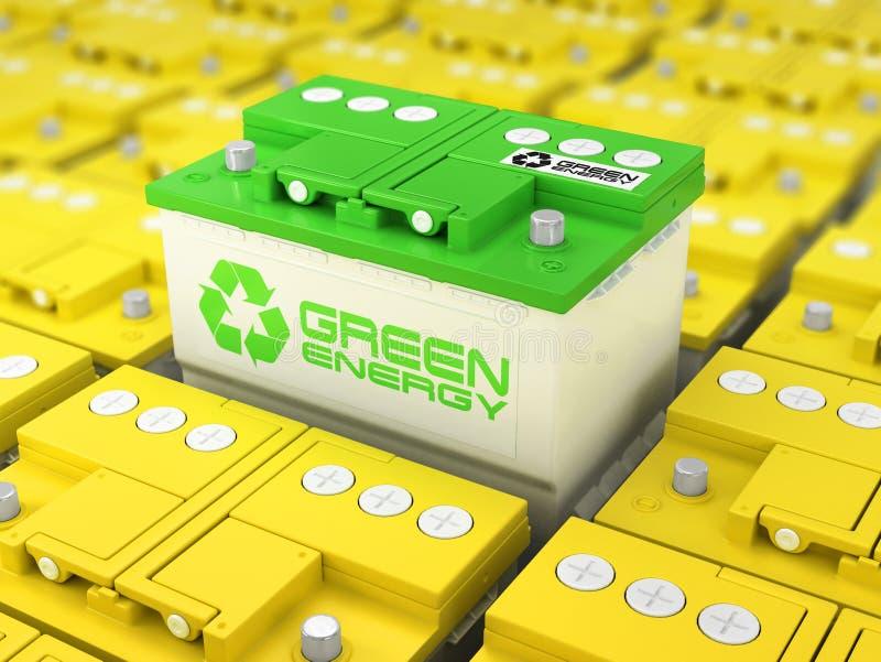 汽车电池回收 绿化能源 从累加器的背景 向量例证