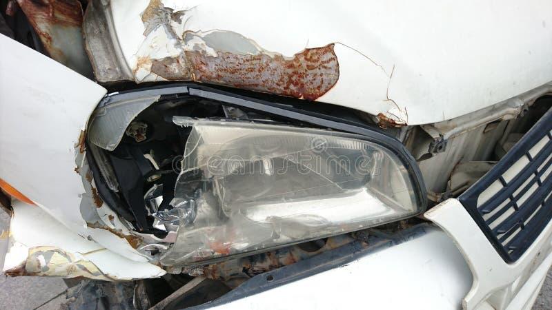 汽车的前端捣毁了 免版税图库摄影