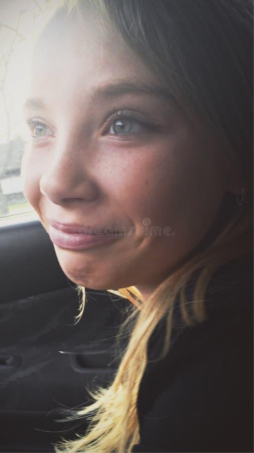 汽车的女孩 库存照片